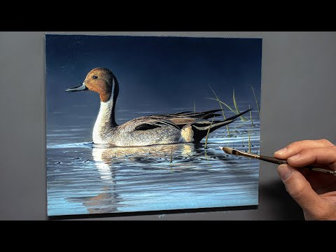 realistic wildlife oil painting tutorial by chuck black
