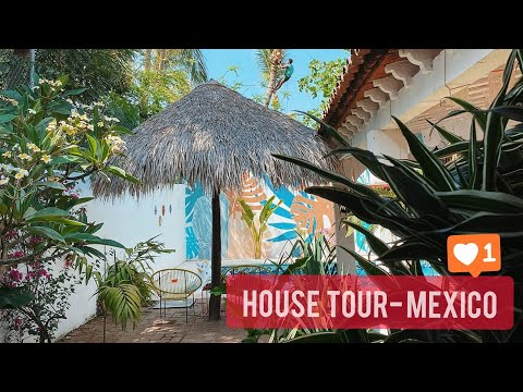 MEXICAN BEACH BUNGALOW HOUSE TOUR -PUERTO ESCONDIDO