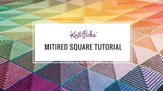 Learn to Knit a Mitered Square