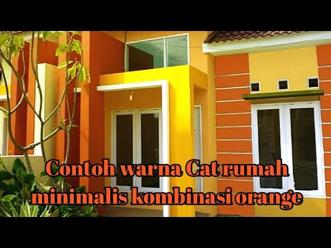 Warna Cat Rumah Modern Minimalis Orange Dan Abu Abu