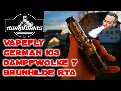 YouTube Video zu Vapefly Brunhilde Selbstwickelverdampfer 8 ml by German 103 / Dampfwolke 7