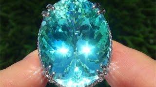 $10 Million Dollar World's Largest Natural Paraiba Tourmaline Ring For Sale