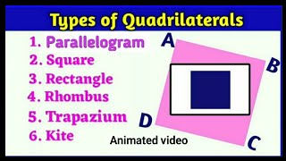 Types of Quadrilateral   what is quadrilateral and it's types