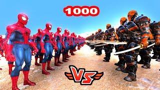 1000 ÖRÜMCEK ADAM VS 1000 DEATHSTROKE 😱 - Süper Kahramanlar