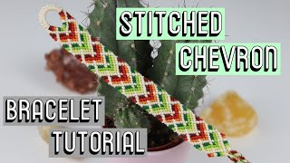 STITCHED CHEVRON TUTORIAL || Friendship Bracelets
