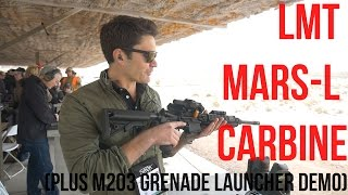 SHOT Show 2016 Industry Day: LMT MARS-L Carbine and M203 Grenade Launcher Demo