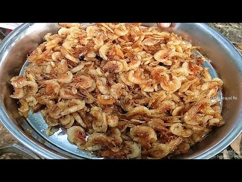 Delicious Dry Prawn Fish Curry | Dry Fish Recipe | Village Style Dry Fish Cooking