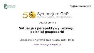 Debata online – Sytuacja i perspektywy rozwoju polskiej gospodarki