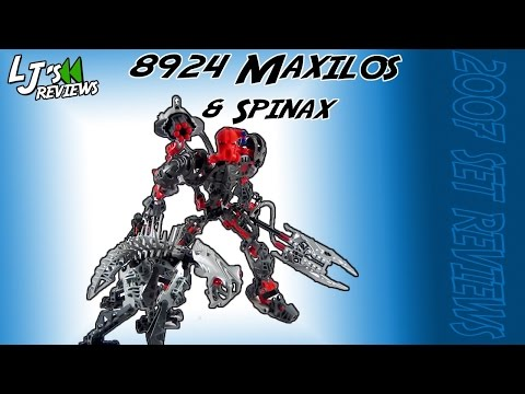 Lego 8924 Bionicle Mahri Nui Maxilos and Spinax robot complet Notice 2007 -NN21