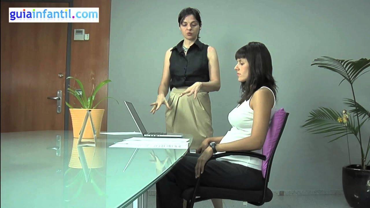 Posturas de la embarazada en el trabajo