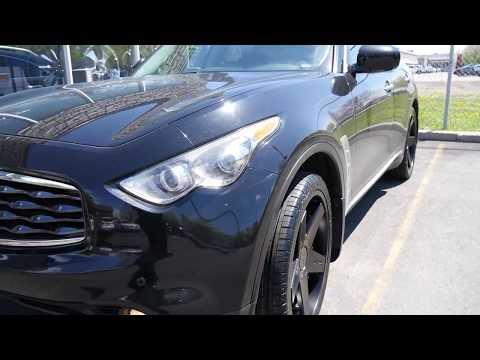 2012 INFINITI FX35 WITH 20 INCH CUSTOM BLACK RIMS & TIRES