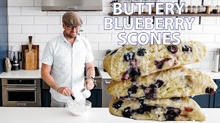 The Trick to Buttery Flaky Blueberry Scones