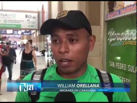 Caravana de migrantes hondureños partieron de San Pedro Sula a Estados Unidos