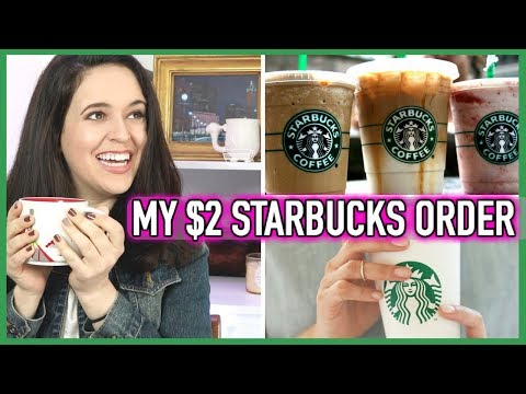 My $2 Starbucks Order // How To Save Money At Starbucks // Starbucks Coffee Hack