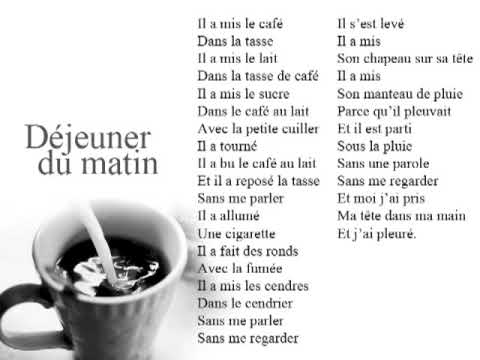 Poésie Déjeuner Du Matin Jacques Prévert