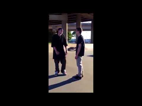 Skatepark Fight - Kid Fights 2 Guys!!!