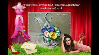 МК-Готовимся к 8 марта.Создаем туфельку из джута с крокусами./@evadusheva. ||jute craft idea.