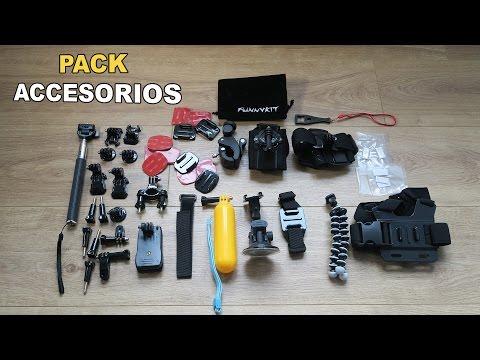 Pack de accesorios para tu cámara de acción (Xiaomi, SJCAM, GoPro o GitUp)