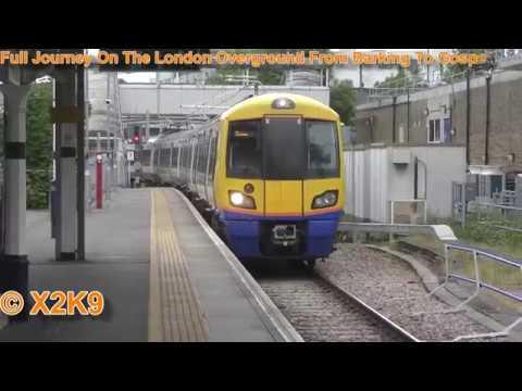 Full Journey On The London Overground From Barking To Gospel Oak