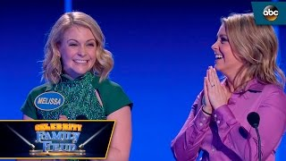 <b>Melissa Joan Hart </b>and Sister Take On Fast Money  Celebrity Family Feud