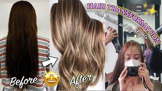 HAIR TRANSFORMATION GOALS | Ash Brown + Highlights