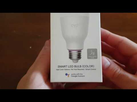 Yeelight YLDP06YL 10W RGBW Smart LED Bulb AC100-240V - Unboxing