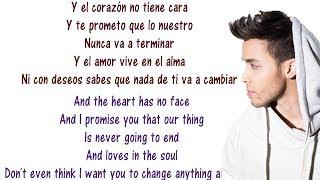 Corazón sin cara - Heart Without a Face - Prince Royce - Lyrics Translated [English + Spanish]