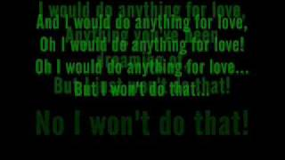 Meat Loaf - I Would Do Anything For Love (But I Won't Do That) Lyrics