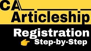 CA-Articleship registration online(SSP Portal) -Step by Step