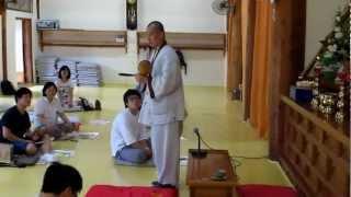 preview picture of video '태정스님의 목탁치는 법 설법'