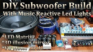 DIY Subwoofer Build With Music Reactive LED Light - YouTube