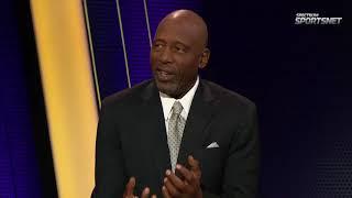 James Worthy & Robert Horry praise Lonzo Ball's Triple-Double | Lakers vs Bucks | November 11, 2017