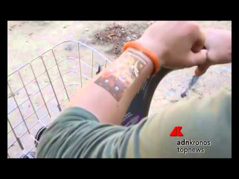 Cicret, il bracciale che proietta Android sul braccio
