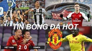 Tin bóng đá|Chuyển nhượng 17/01|CR7 giúp Juve đoạt Siêu cúp|Arsenal đón sao Barca|MU dễ có Doucoure