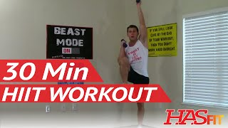 30 Minute HIIT Workout - HASfit High Intensity Interval Training Workout - HIT Training Exercises by HASfit