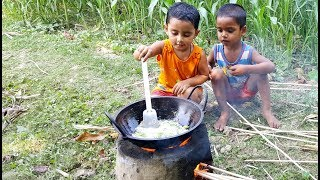 Cute Cooking Show - Buffalo Tongue Curry Cooking By 3 Years Old Angel Baby Chef - Sneyhas Show