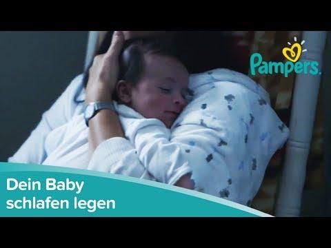 Baby schlafen legen   Pampers
