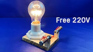 Technology Free Energy Generator With Light Bulb 220V For Ideas 2021