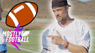 Catching Punts With Josh Duhamel   Mostly Football