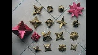 How to make Lucky Paper Stars|Paper Stars|Origami Stars|3D Lucky Stars with Paper Strips - Video Youtube