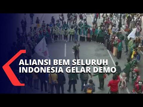 ini pantauan aksi demo tolak uu cipta kerja oleh aliansi bem seluruh indonesia