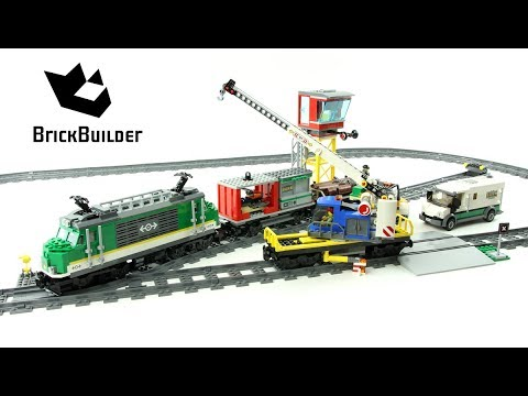 Vidéo LEGO City 60198 : Le train de marchandises télécommandé