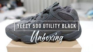 newest ba2e4 d5094 Unboxing แกะกล่องรีวิว - รองเท้า adidas Yeezy 500 Utility Black