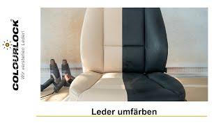 Leder umfärben   Farbe ändern   Lederfarbe neu färben   Autositz   Ledersitz färben   COLOURLOCK