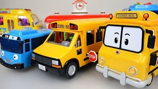 Wheels On The Bus Nursery Rhymes playing BUS Tayo Poli Pororo toys 로보카폴리 뽀로로 타요 와 버스놀이 장난감