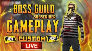 Boss Guild Custom Room Gameplay | Playing With Boss Guild Memebrs | #sk sabir , #boss official, #pri