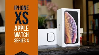 Apple iPhone Xs & Apple Watch Series 4 Unboxing & First Look!