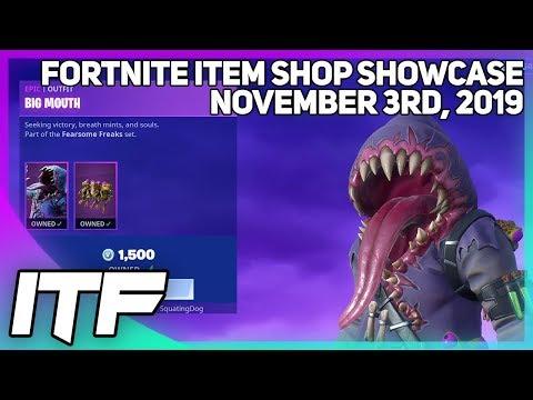 Fortnite Item Shop EARLIER ITEM SHOPS ARE BACK! [November 3rd, 2019] (Fortnite Battle Royale)