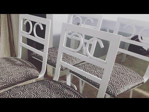 DIY ll Metal Chair Makeover