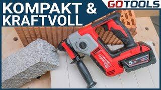 Der Milwaukee Akku Bohrhammer M18BH - handlich, leicht und enorme Schlagkraft